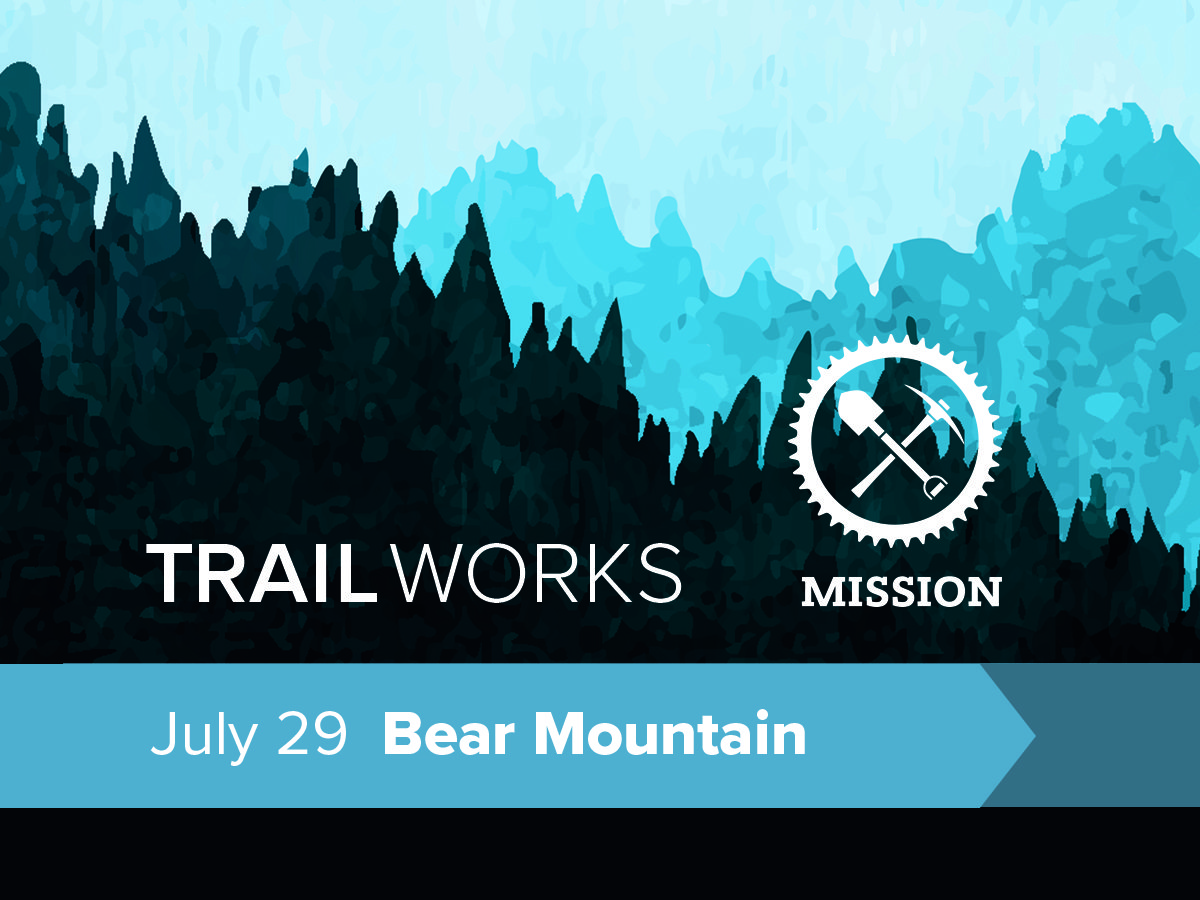 Poster promoting July 29 trail day at Bear Mountain