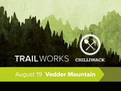 FVMBA Trail Day Banner Vedder Mountain August 19 6 PM
